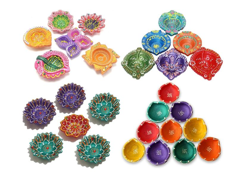 Diwali: Multi-color earthen oil lamps (mitti diya) you can buy on Amazon