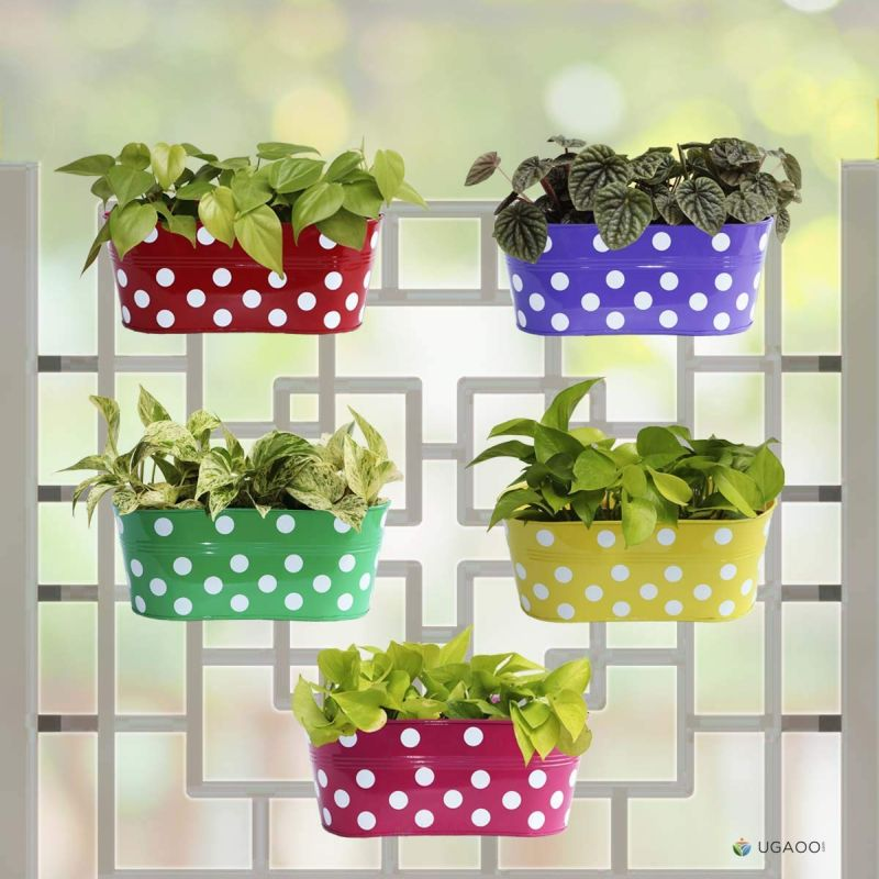 UGAOO Dotted Oval Railing Planter