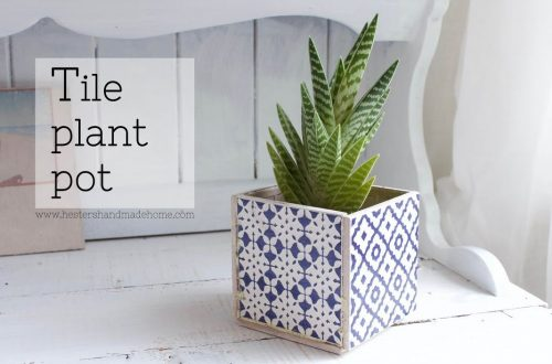 Make Your Own Beautiful Planter Box with Ceramic Tiles