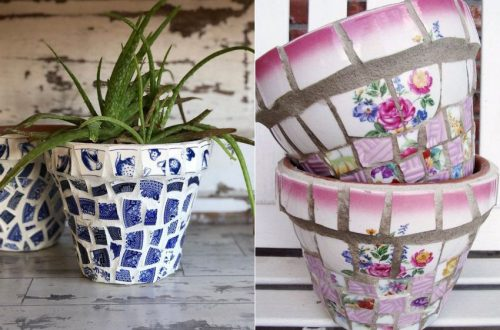 How to Make Mosaic Flower Pot from Broken China