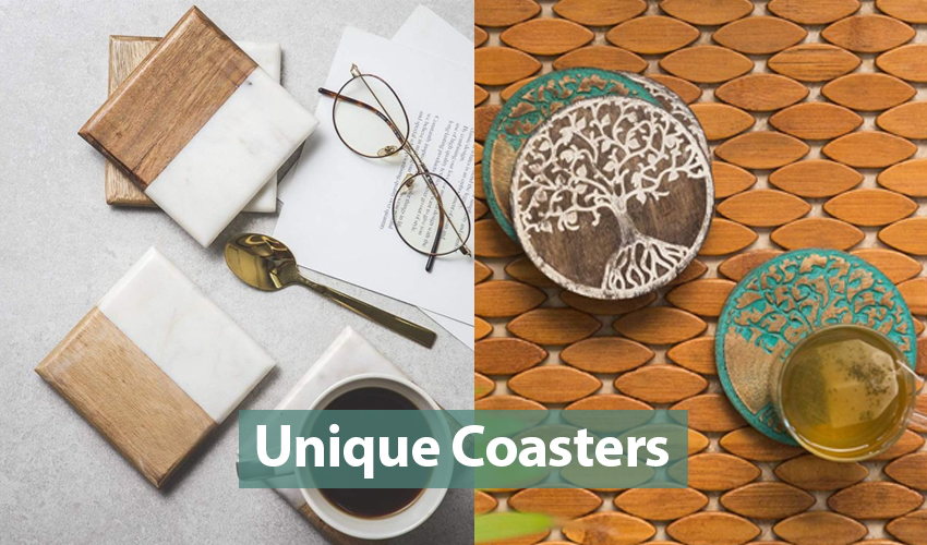 10+ Beautiful Coaster Sets Made of Different Materials